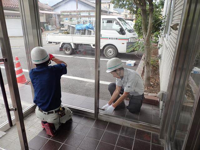 坂城町商工会館エントランス改修-04