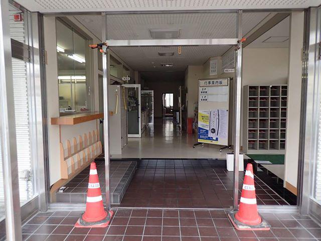 坂城町商工会館エントランス改修-05