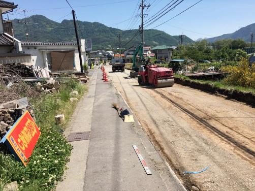 坂城町産業道路舗装工事