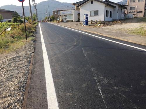 坂城町産業道路舗装工事-01